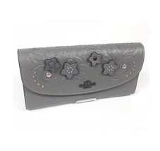 NWT COACH Multifunction Wallet Insert Signature Coin Pocket Card Black F22997