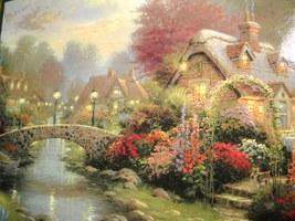 Ceaco Jigsaw Puzzle Thomas Kinkade Lamplight Bridge 1997 Painter Of Ligh... - $12.99
