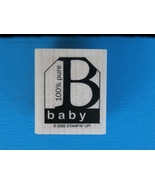 100% Pure Baby Rubber Stamp by Stampin' Up, Gift Tag Shape - $2.99