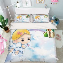 3D Cute Angel 29 Bed Pillowcases Quilt Duvet Cover Set Single Queen King... - $64.32+