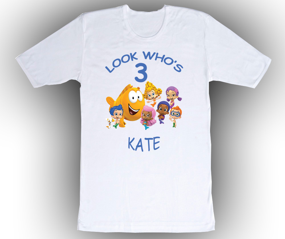 bubble guppies personalized white birthday shirt t shirts