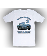 Cars Finn Mcmissile Personalized White Birthday Shirt - $14.99