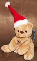 NWT Christmas Santa Bear Bean Bag Plush Stuffed Animal Toy Doll Fiesta Hat Cap - $6.90