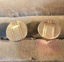 Grandmas Estate VINTAGE  KREMENTZ  Cufflinks 14 Kt Gold Layered NOT SOLI... - $27.72