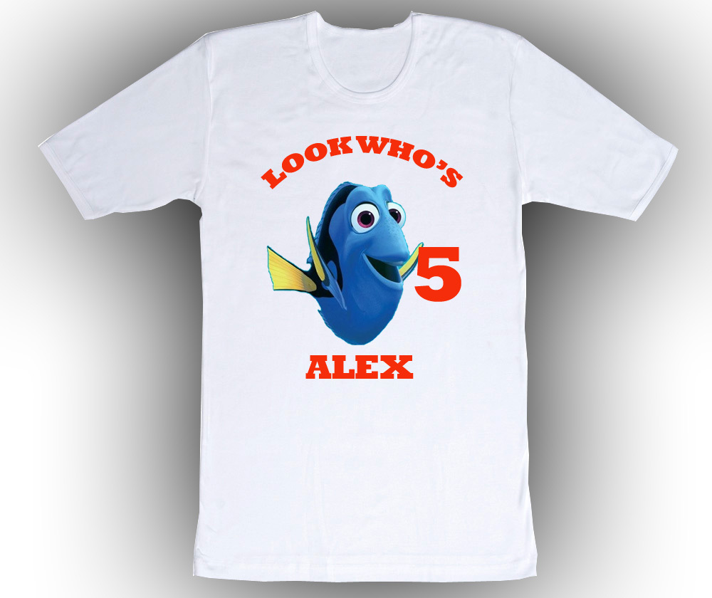Finding Nemo Dory Personalized White Birthday Shirt for sale  USA