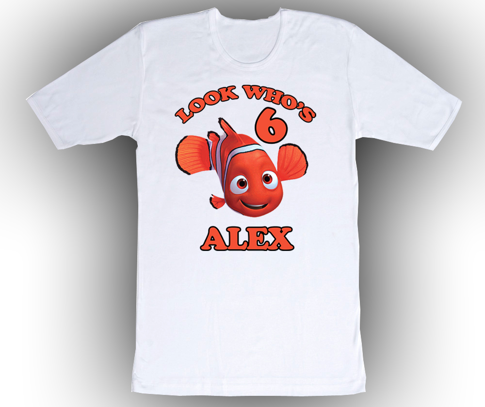 Finding Nemo Personalized White Birthday Shirt for sale  USA