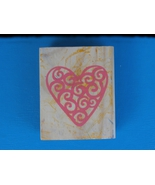 Filigree Heart, Medium Sized  Rubber Stamp  - $2.99
