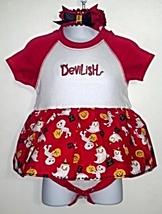 Infant Embroidered Bodysuit Skirt Halloween 12 months + Headband - $21.95
