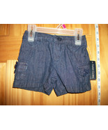 Faded Glory Baby Clothes 18M Infant Girl Shorts Navy Denim Jean Pull-up ... - $8.54