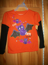 Faded Glory Baby Clothes 24M Halloween Infant Shirt Top Sparkle Bat Blouse New - $9.49