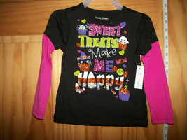 Faded Glory Baby Clothes 24M Infant Halloween Shirt Top Sweet Treats Blouse Tee - $9.49