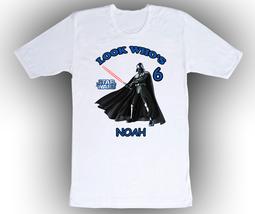 Star Wars Darth Vader Personalized White Birthday Shirt - $14.99+