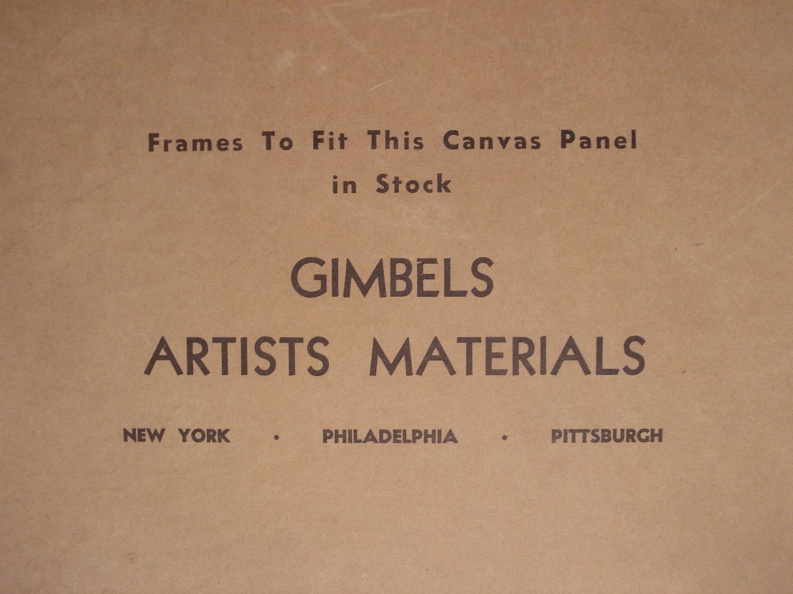 American Landscape Painting MCM Mid Century Illegible Signature Vintage 02489