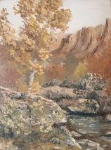 American Landscape Painting MCM Mid Century Illegible Signature Vintage ... - $329.00