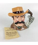 Royal Doulton Wyatt Earp Toby Mug Jug 1984 Wild West Taylor D 6711 Decor... - $97.75