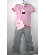 Pink Ruffled Cupcake Ensemble 4T with Leggings,... - $21.95