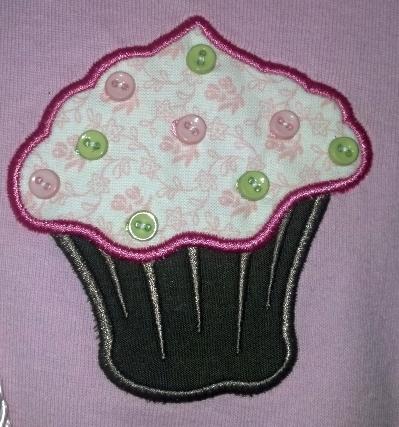 Pink Ruffled Cupcake Ensemble 4T with Leggings, Purse & Hair Bow Barrette