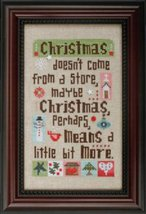 Christmas Means More cross stitch chart Heart in Hand - $12.60
