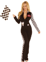 Sexy Elegant Moments Race Car Driver Nascar Halloween Costume S/M M/L 9446 - $49.99