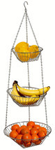 Hanging Wire Metal Fruit Vegetable Basket Organ... - $14.84