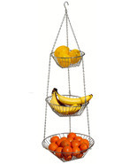Hanging Wire Metal Fruit Vegetable Basket Organizer Home Kitchen Citrus ... - $14.84