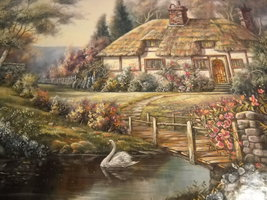 RoseArt Jigsaw Puzzle 2000 Oxfordshire Retreat Carl Valente Factory Sealed - $12.99