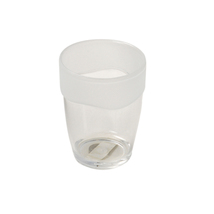 Carnation Home Fashions Clear W/Frosted Trim Rib-Textured Tumbler 1301-B... - $23.62