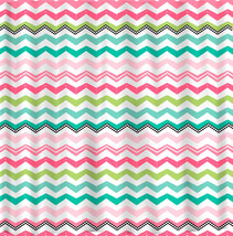 Personalized Chevron Shower Curtain - Fancy Multi Color Chevron Designer... - $78.00