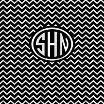 NEW! Personalized Shower Curtain - Black & White Diva collection Chevron... - $78.00