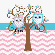 Chevron shower Curtain with M&P Leona Owls - $78.00