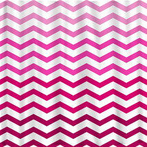 Ombre FADE CHEVRON Shower Curtains available in 13 colors. image 4
