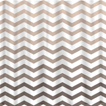 Ombre FADE CHEVRON Shower Curtains available in 13 colors. image 3