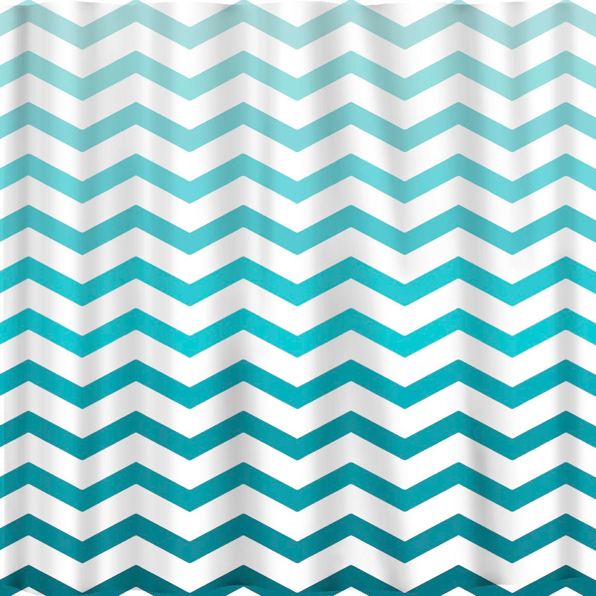 Ombre FADE CHEVRON Shower Curtains available in 13 colors.