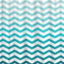 Ombre FADE CHEVRON Shower Curtains available in 13 colors. image 1