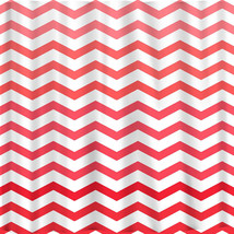 Ombre FADE CHEVRON Shower Curtains available in 13 colors. image 2