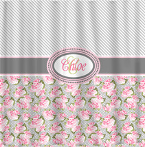 Personalized Shower Curtain -Custom with your Name or Initials - Diagonal Grey S - $78.00