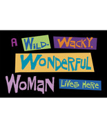 Custom Wild Wacky Wonderful Woman Door Mat  EXCLUSIVE design- 24x18 inch... - $39.95