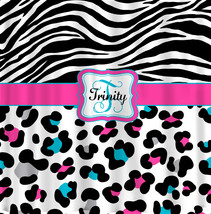 Personalized Shower Curtain - Cheetah and Zebra Custom design - Any Colo... - $78.00