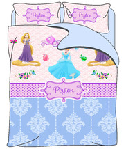 Custom Duvet Cover - Various Inspired PRINCESS Bedding - Personalized wi... - $139.00