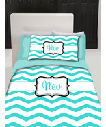 Chevron Monogram Duvet Cover and pillowcover- Personalized - Twin Bed Size - $169.00