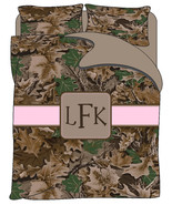 Personalized Custom Realtree Inspired Camo Bedding Duvet Cover & Pillowc... - $264.00