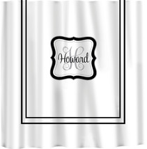 Custom Shower Curtain -Simplicity with monogram in your colors - color or white  image 3
