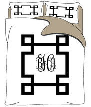 Simplicity Inverted Greek Key Duvet & Shams- Qu... - $139.00
