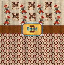Personalized Western Theme Shower Curtain - Tan, Taupe, Copper, Leather,ellow &  image 1
