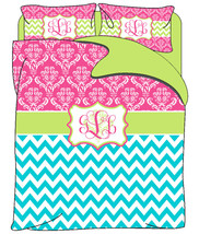 Custom Personalized Chevron and Damask Duvet Co... - $139.00