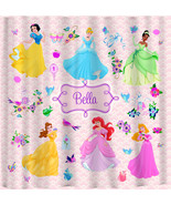 Personalized Custom Shower Curtains in Princess Character Theme - Your L... - $78.00