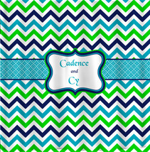 Shower Curtain - Multi Color Lime, Navy, Turquoise and White - Accent An... - $78.00