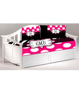 Daybed TWIN Custom Duvet Cover and 2 shams - Shown in Zebra and Hot Pink... - $189.00