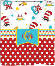 Personalized Cat In the Hat Inspired Plush Fleece Blanket - Other Themes... - $39.99