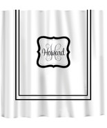 Custom Shower Curtain -Simplicity with monogram in your colors - any col... - $78.00